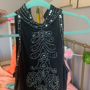 Beaded ECOTE tank top! Never worn size small